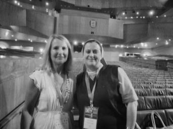 Con Nuria Miró, directora del Colegio Montserrat de Barcelona
