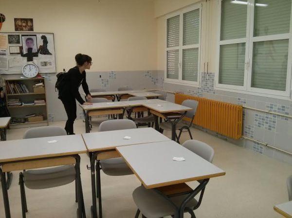 Preparando el aula