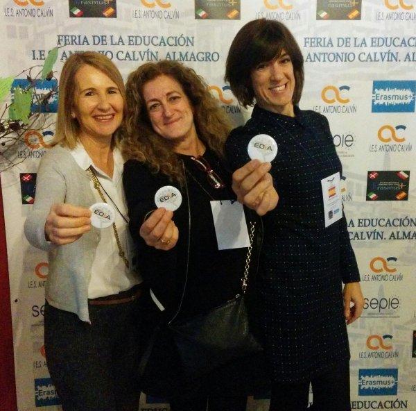 Con Virginia Capilla y Cristina Valdera, compañeras del Proyecto EDIA